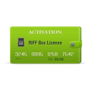 Activación de licencia para RIFF Box