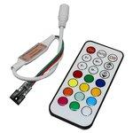 Controlador LED con control remoto RF TH2015-X-RF (RGB, WS2811, WS2812, 5 V)