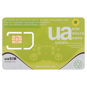 uaSIM – Универсальная SIM-карта для активации iPhone  3G / 3GS / 4 / 4S / 5 / 5C / 5S / 5SE / 6 / 6 Plus / 6S / 6S / 7 / 7 Plus и тестовая SIM-карта