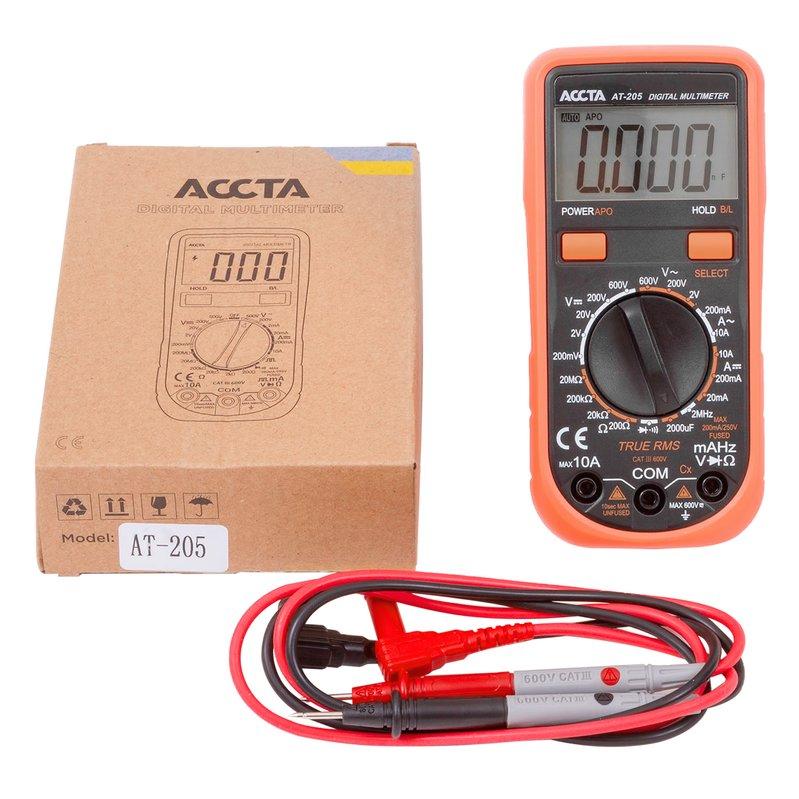 Цифровий мультиметр Accta AT-205 Зображення 1