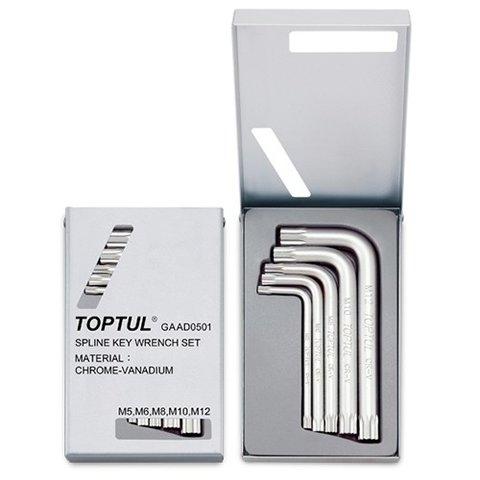 Набір ключів Spline Г подібних TOPTUL GAAD0501 5 шт.