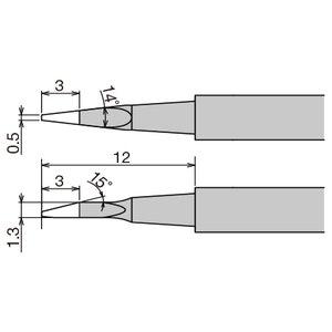 Punta de recambio para pinzas térmicas Goot XST-80HRT-0.5