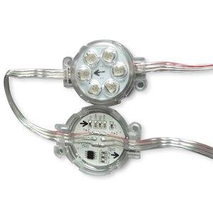 Комплект круглых LED-модулей (UCS1903, 6 светодиодов SMD5050, 40 мм, IP67, 20 шт.)